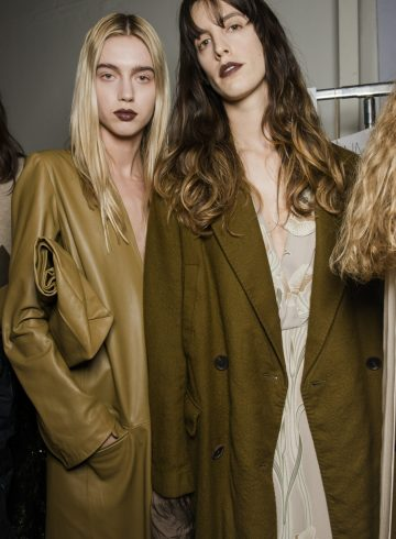 Erika Cavallini Fall 2018 Fashion Show Backstage