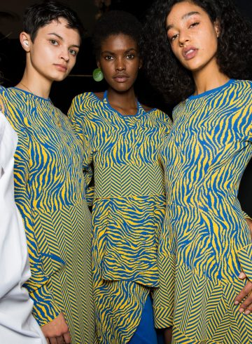 Esteban Cortazar Fall 2018 Fashion Show Backstage