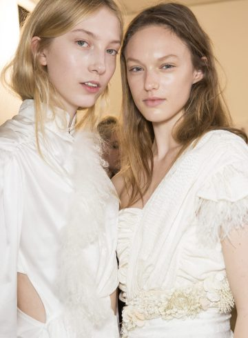 Preen by Thornton Bregazzi Fall 2018 Fashion Show Backstage