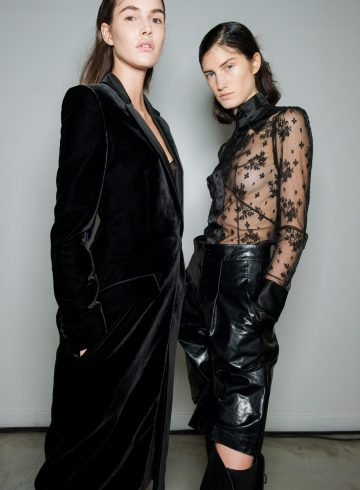 Olivier Theyskens Fall 2018 Fashion Show Backstage Beauty