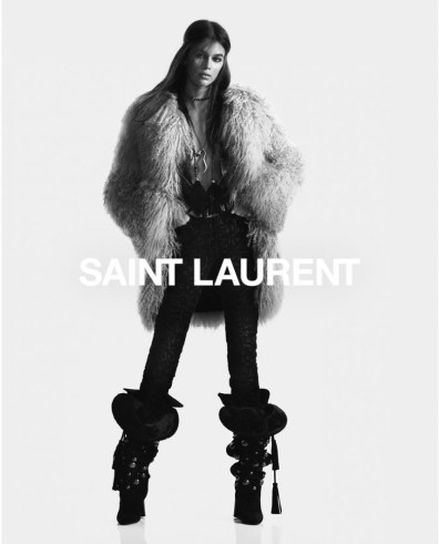Kaia-Gerber-Saint-Laurent-Fall-2018-Campaign-the-impression-2