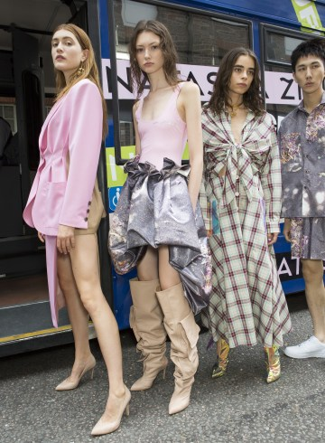 Natasha Zinko Spring 2019 Fashion Show Backstage