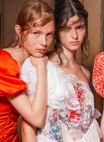 Preen By Thornton Bregazzi Spring 2019 Fashion Show Backstage