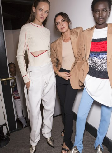 Victoria Beckham Spring 2019 Fashion Show Backstage