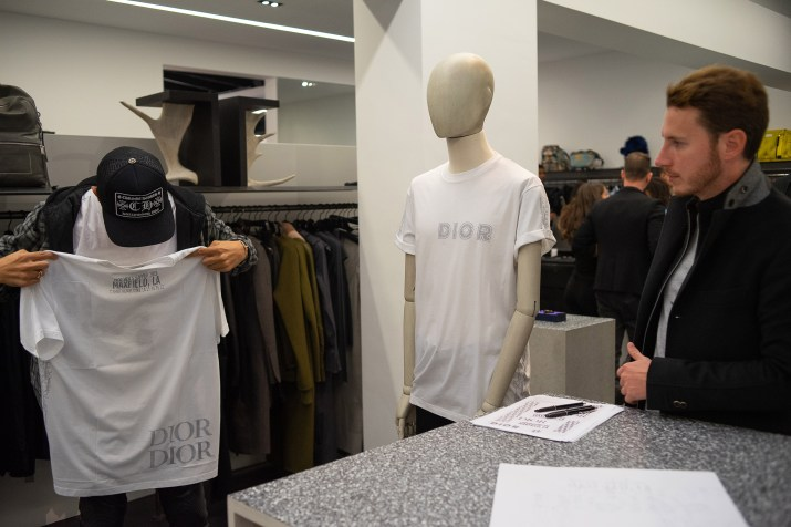 Dior Men x KAWS capsule launch: at Maxfield