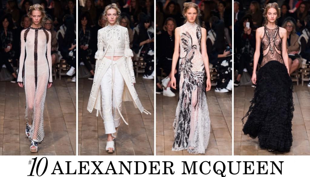 Alexander McQueen Spring 2016 Fashion Show Top 10 Photo