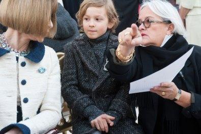 Anna Wintour & Hudson Kroenig at Chanel