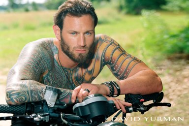 A visual from the David Yurman ad campaign shot by Bruce Weber.