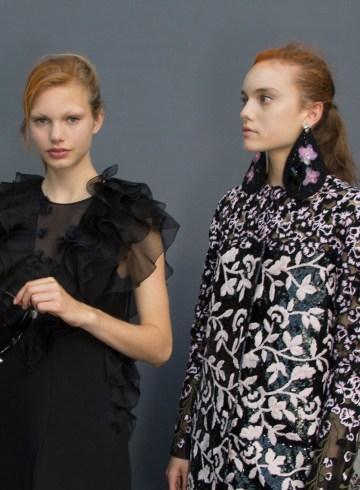 GIAMBATTISTA VALLI fall 2015 couture backstage photo