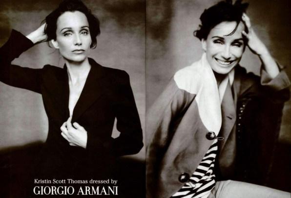 Giorgio Armani SS 2003 Kristin Scott Thomas