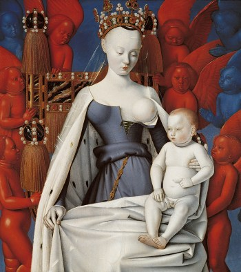 Madonna lactans by Jean Fouquet