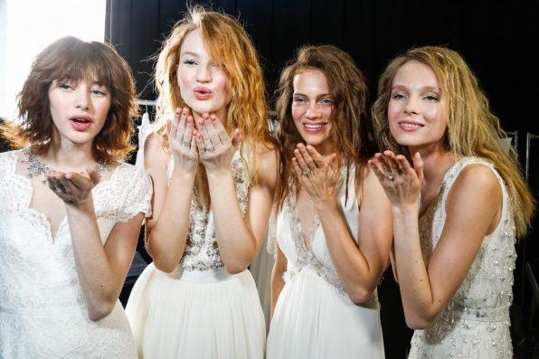 Jenny Packham Spring 2018 Bridal Fashion Show Backstage