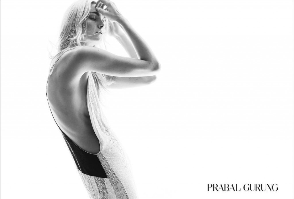 Prabal Gurung fall 2015 ad campaign Caroline Trentini photo