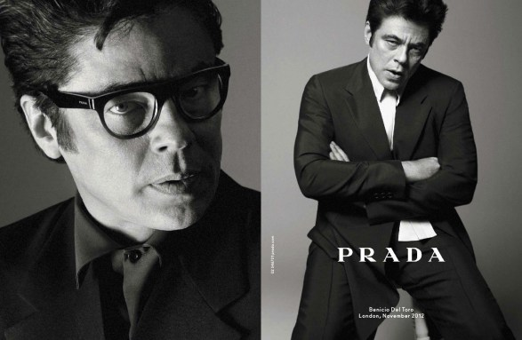 Prada Men's SS 2013 David Sims Benicio del Toro