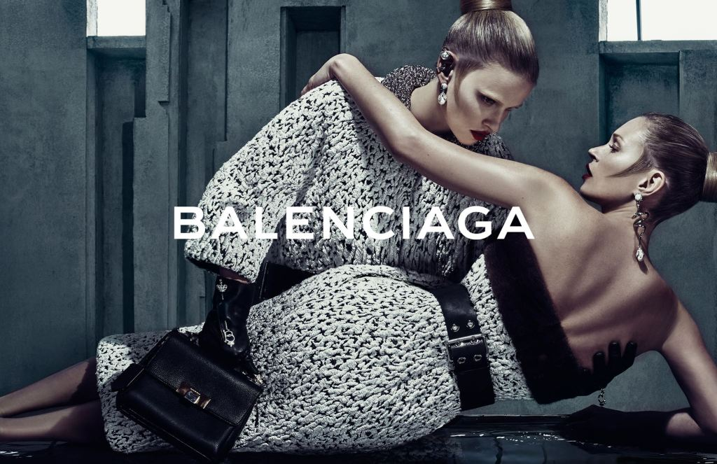 Balenciaga Kate Moss and Lara Stone fall 2015 ad campaign photo