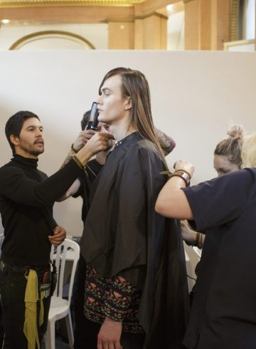Balmain Homme Fall 2017 Menswear Fashion Show Backstage