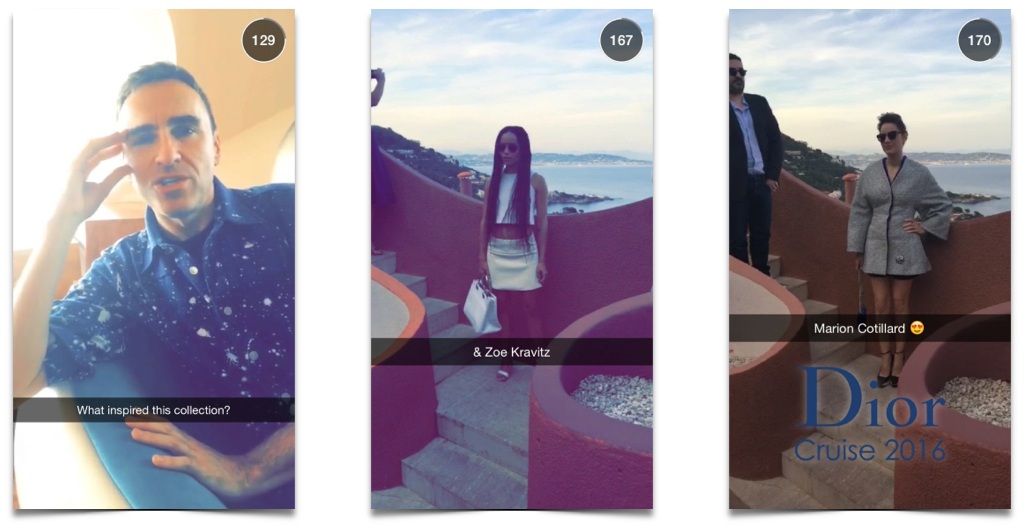 Dior cruise show snapchat-2
