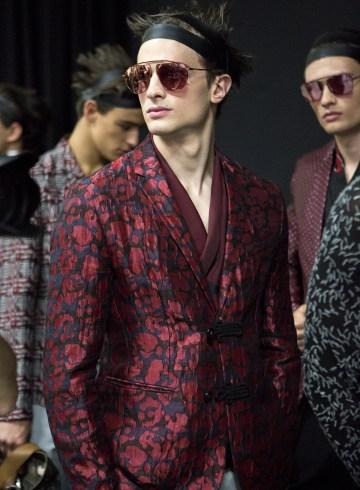 Emporio Armani Spring 2018 Men's Fashion Show Backstage