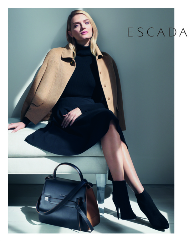 Escada Lily Donaldson by Daniel Jackson fall 2015 ad photo