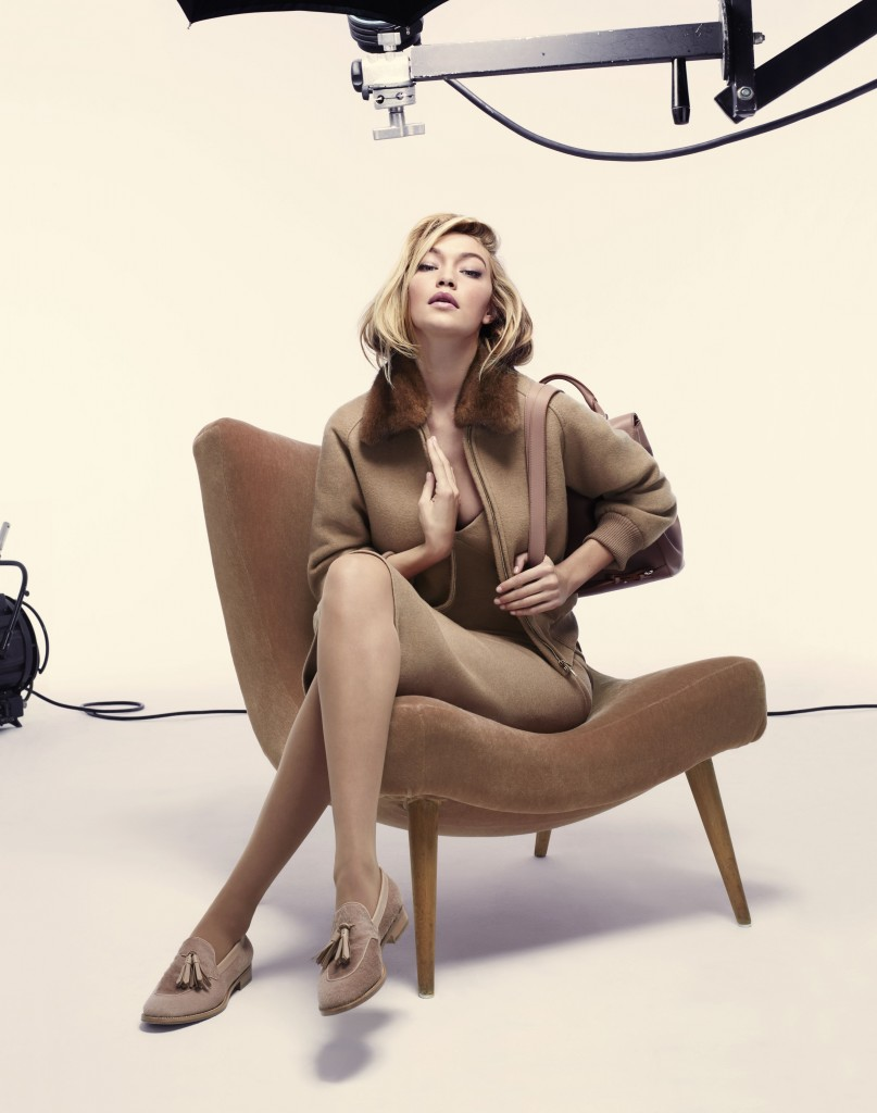 Max Mara Gigi Hadid fall 2015 ad campaign photo