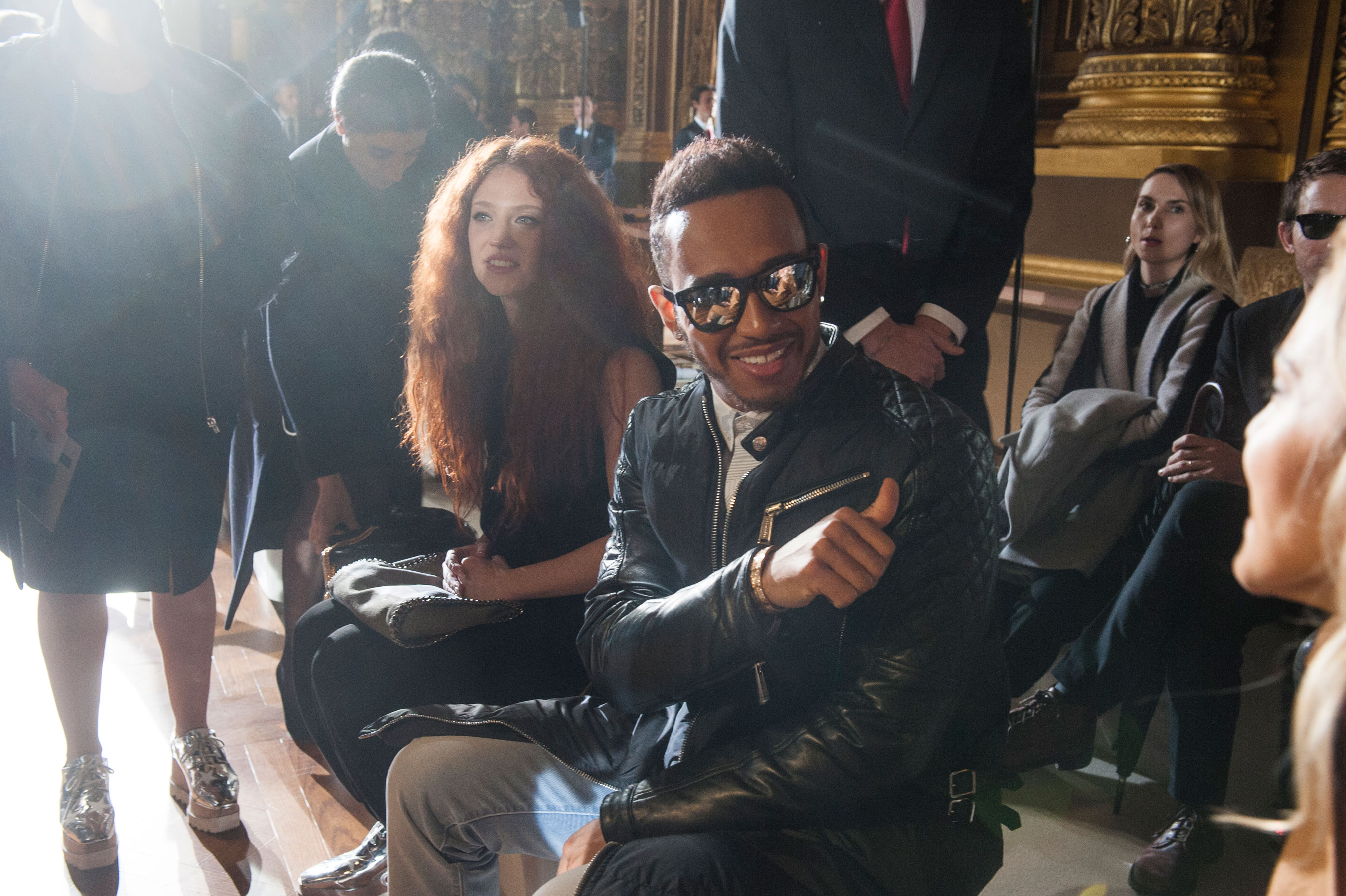 Jess Glynne & Lewis Hamilton at Stella McCartney