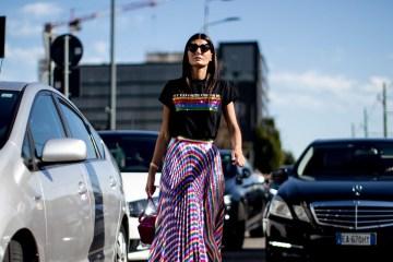 Milan Fashion Week Street Style Spring 2018 Day 1