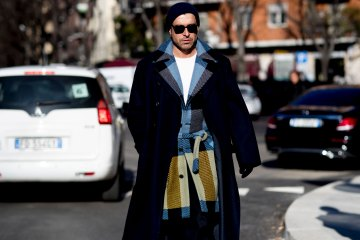 Milan Men's Fashion Week Street Style Day 4 Fall 2017