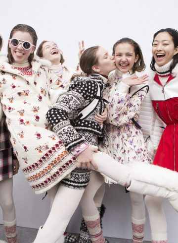 Moncler Gamme Rouge Fall 2017 Fashion Show Backstage