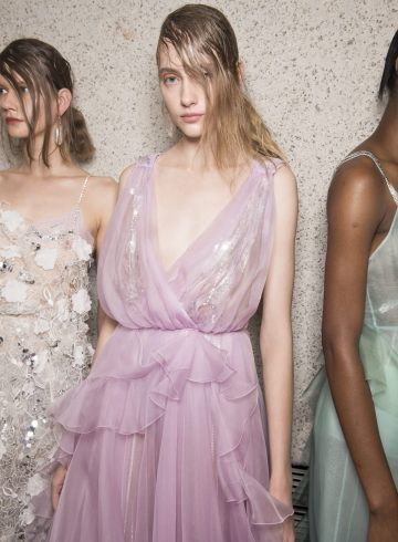 Preen by Thornton Bregazzi Spring 2018 Fashion Show Backstage
