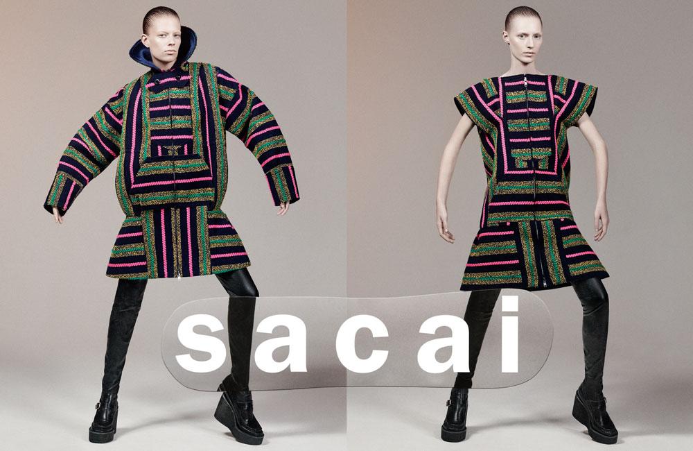 Sacai Fall 2015 ad campaign photo