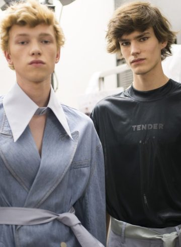 Sean Suen Spring 2018 Men's Fashion Show Backstage