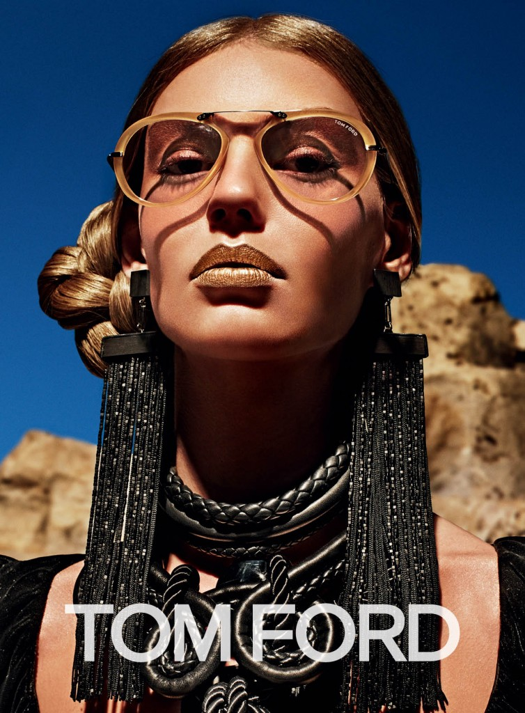 tom ford fall 2015 ad campaign lucky blue and Ondria Hardin photo