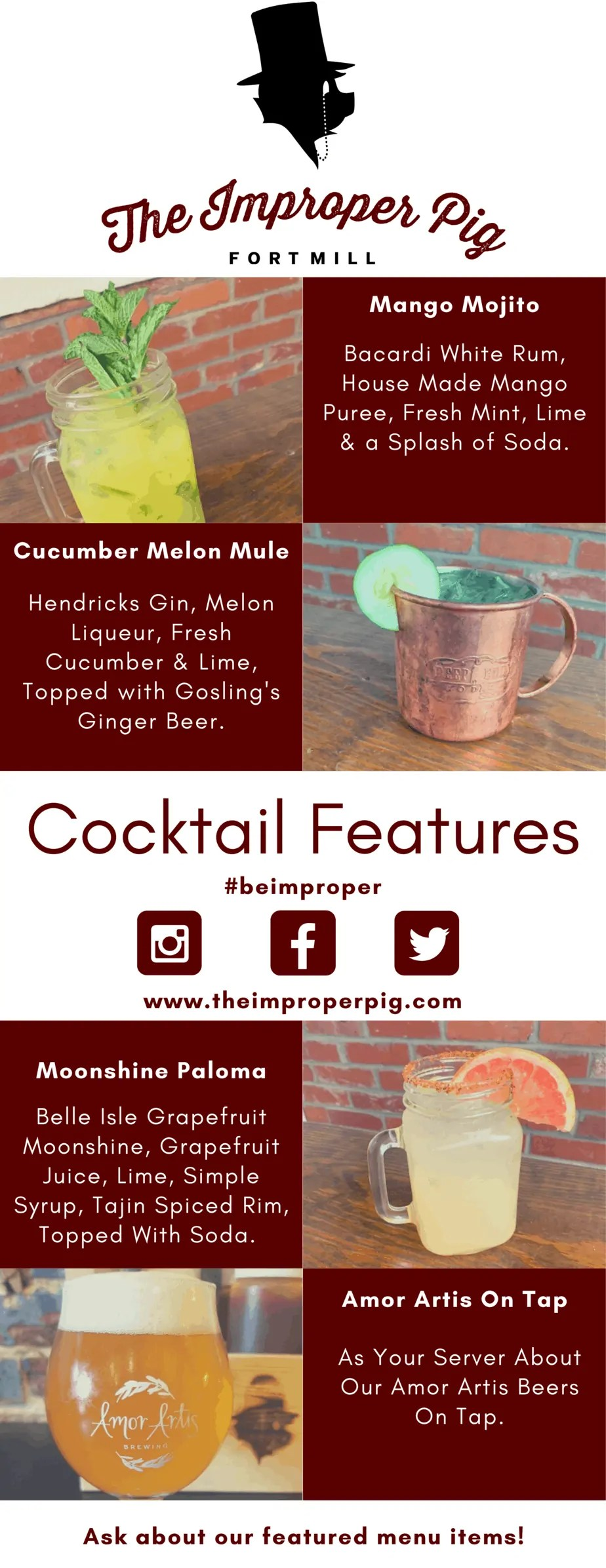 Spring Cocktail Features