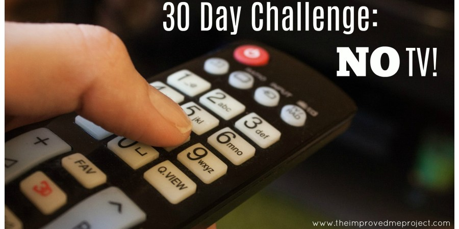 Do you spend hours in front of the TV? Do you wish you had more time to do the things your enjoy? Try a 30 day challenge in which you greatly decrease or completely eliminate mindless TV watching from your routine and see how many hours you gain in your day!