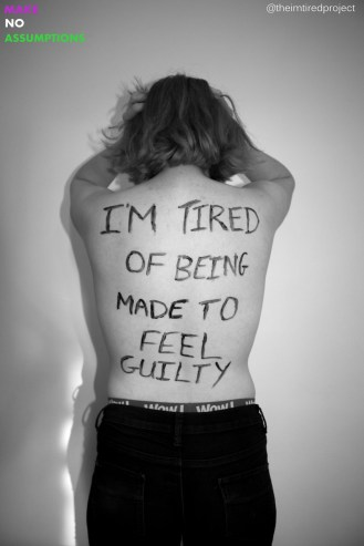 """""""I'm tired of being made to feel guilty."""""""