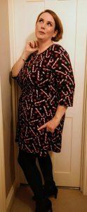 candycane tunic, christmas tunic, christmas dress,