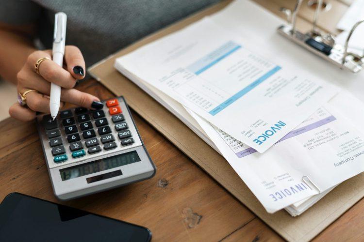 bills and calculator