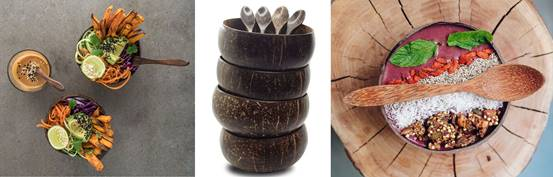 Hand Crafted Thai Coconut bowls