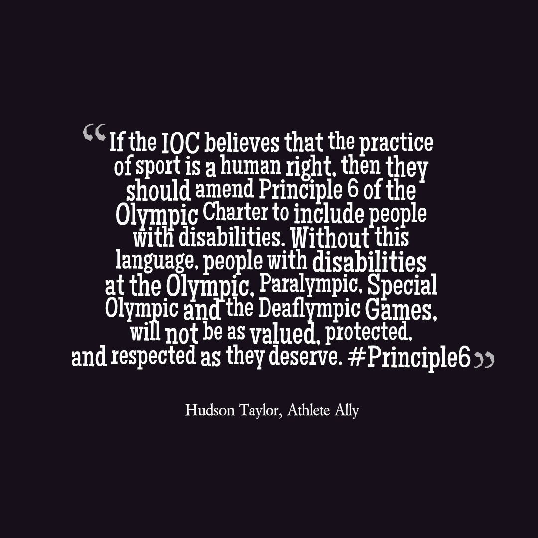Quotes About Disabilities The Olympic Movement Belongs To Everyone  The Inclusion Club