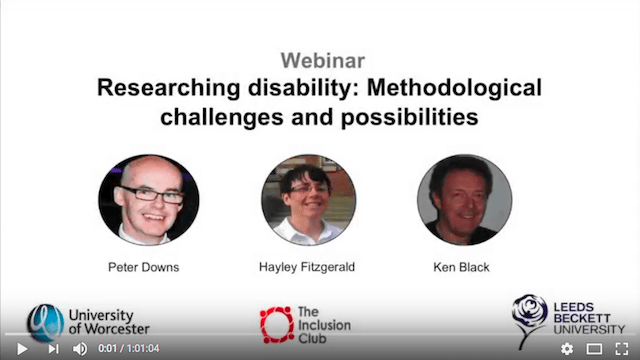 Researching disability: Methodological challenges and possibilities