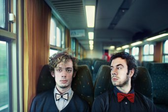 Two strangers - train in Amsterdam