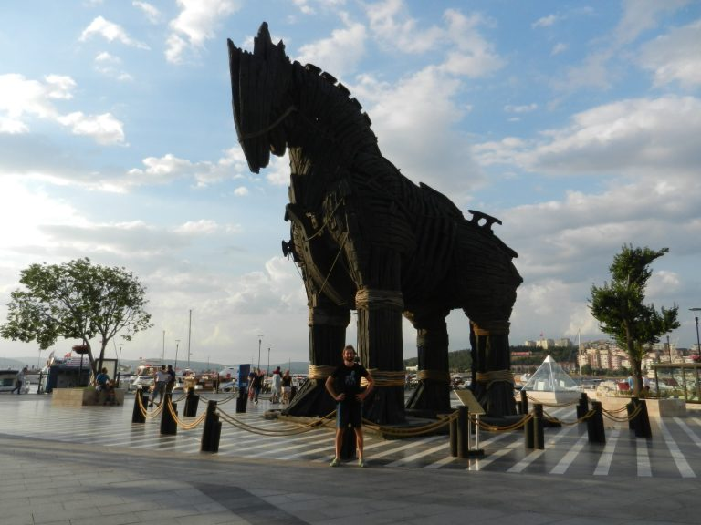 Trojan horse of Canakkale, Turkey