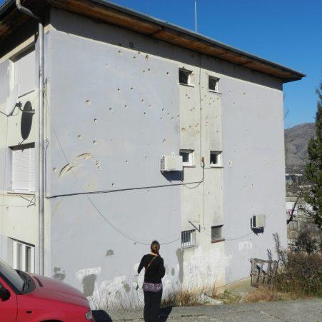 Bullet holes, Mostar, Bosnia