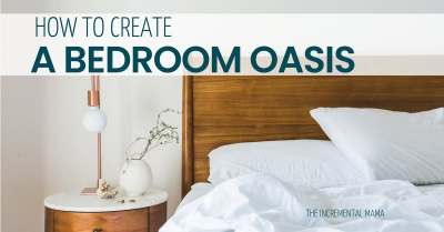Find peace as a busy mom by creating a peaceful bedroom oasis.