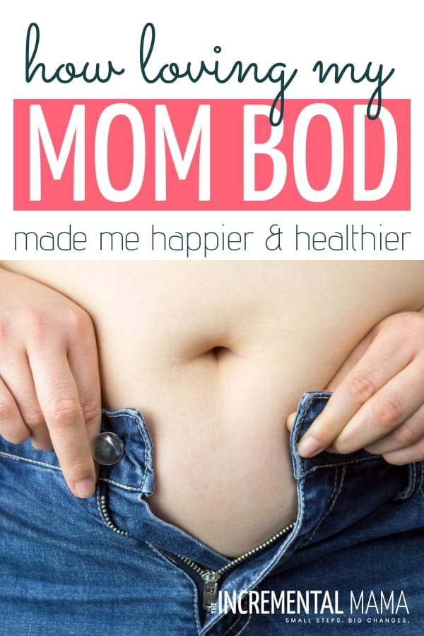 How loving my mom bod (even my after pregnancy belly) made me happier & healthier and why we should love our postpartum bodies--stretch marks and all. #postpartumbodypositivity #bodypositivity #loveyourbody #afterpregnancybelly