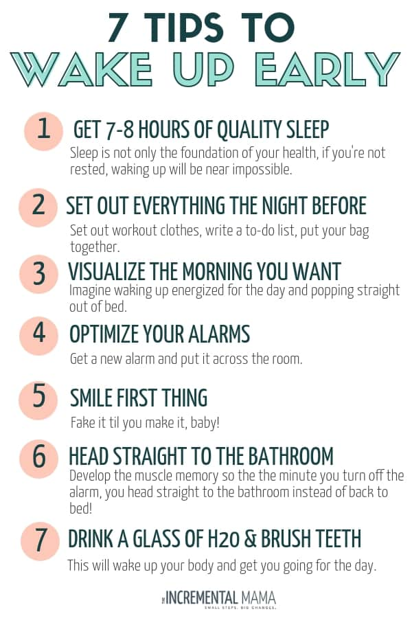These 9 tips to wake up early will help even the biggest night owls wake up early. Whether you want to workout, or simply create an awesome morning routine, these hacks will show you how to make it easy to wake up early! Number 5 is my favorite... #wakeupearlytips #howtowakeupearly #morningroutine