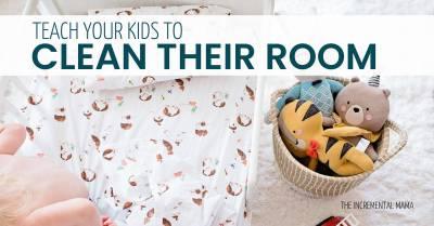 7 Steps Teaching Kids to Clean Their Bedrooms #parenting #momhacks #teachkidstoclean