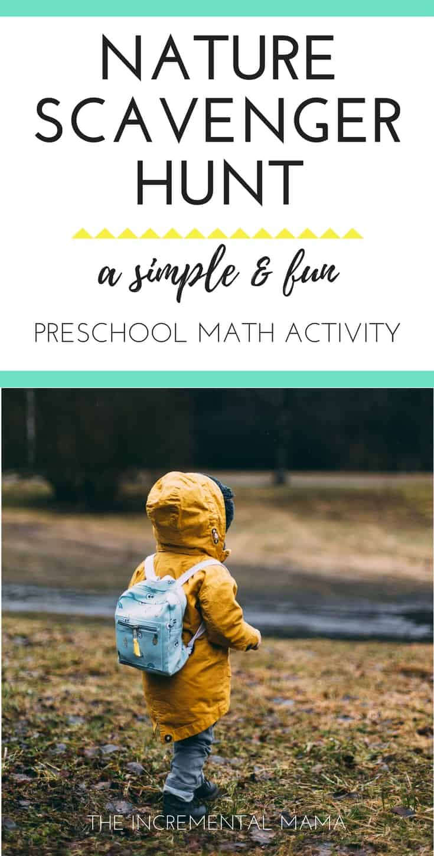 Fun & Easy Nature Scavenger Hunt Preschool Math Activity