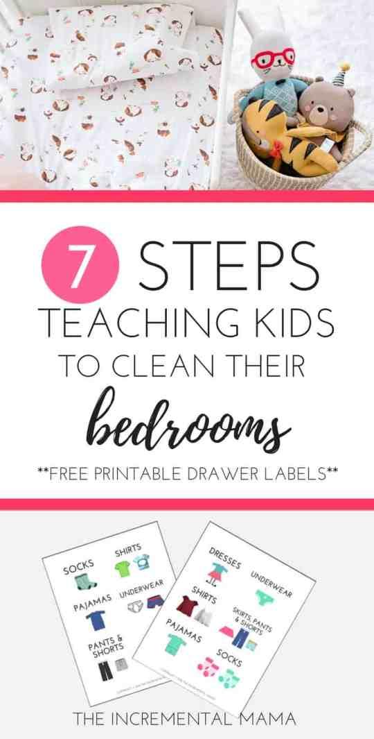 7 Steps Teaching Kids to Clean Their Bedrooms