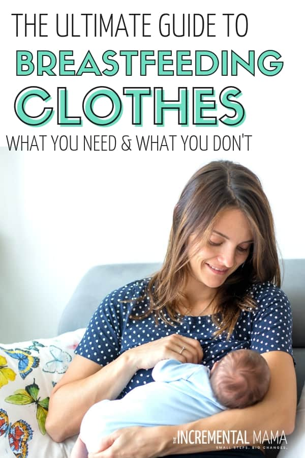 Find the breastfeeding clothes that you need to make it easy to be a nursing mom and still look stylish. Find the nursing outfits and awesome nursing dressed that will make breastfeeding so much easier. #breastfeedingclothes #nursingoutfits #nursingtops